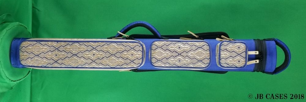 2x3 Blue Ultimate Rugged with Diamond Pattern Tweed