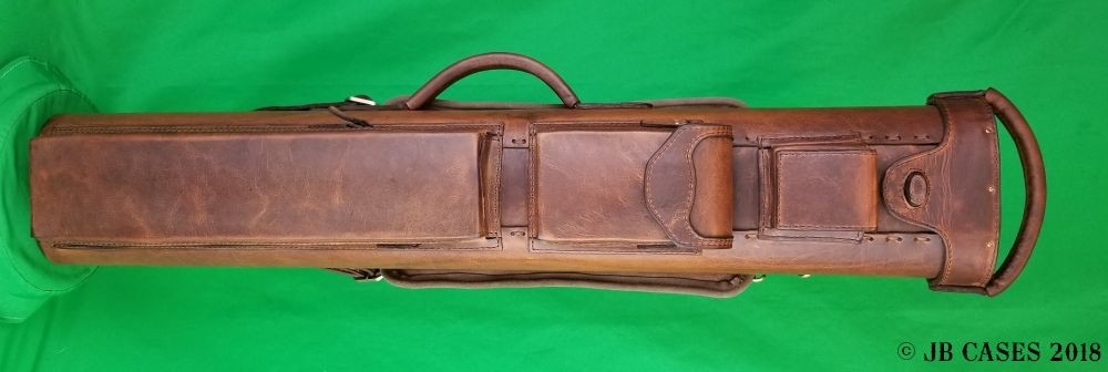 4x8 Brown Oil Tan Leather Case