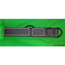 4x8 Black Ultimate Rugged with White Stitching and Piping and Magnetic Top Pocket