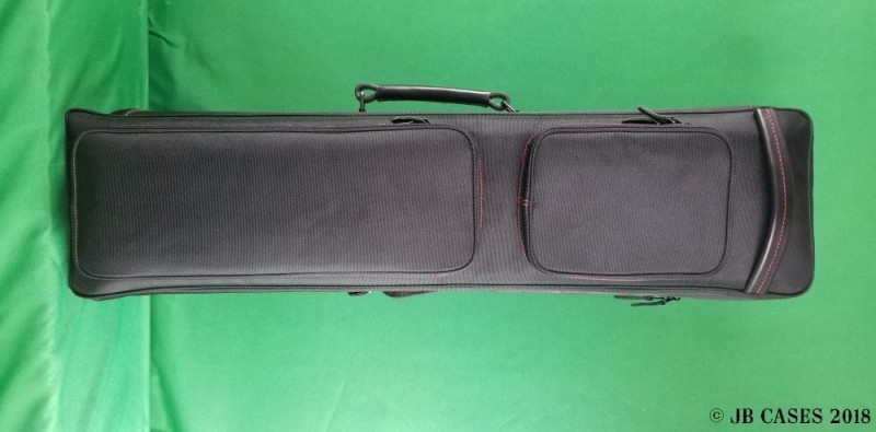 12x24 Black Butterfly Case with Red Stitching