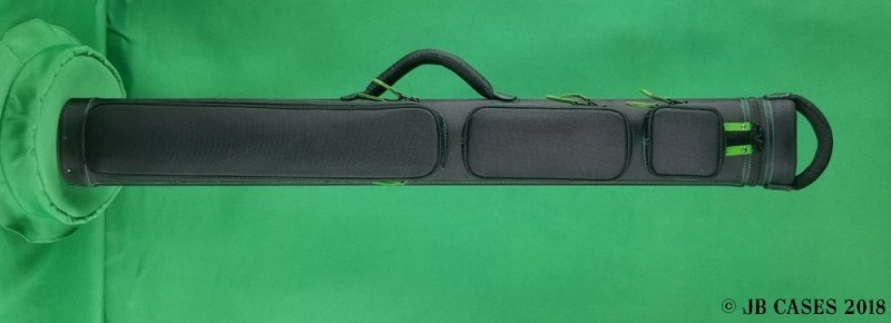 2x3 Black Ultimate Rugged with Forest Green Stitching
