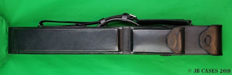 2x4 Black Leather Mason Case