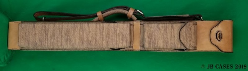 2x4 Basket-Weave Leather Mason Case