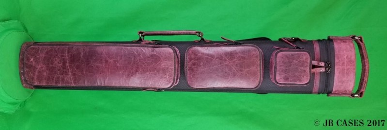 2x5/3x4 Black and Maroon Ultimate Hybrid with Pocket Tray