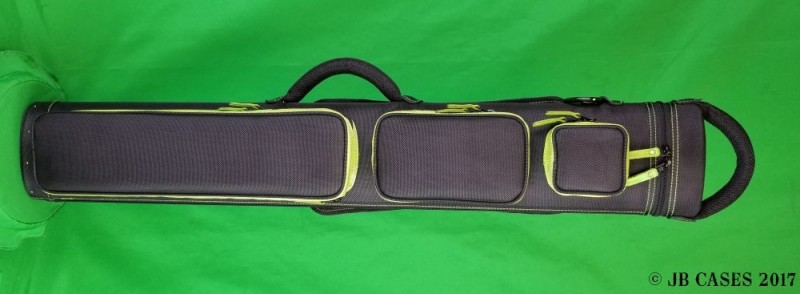 2x5/3x4 Black Ultimate Rugged with Lime Green Pocket Sides and Stitching/Zipper Pulls