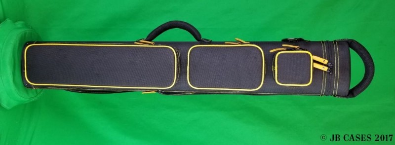 2x5/3x4 Black Ultimate Rugged with Yellow Piping and Stitching