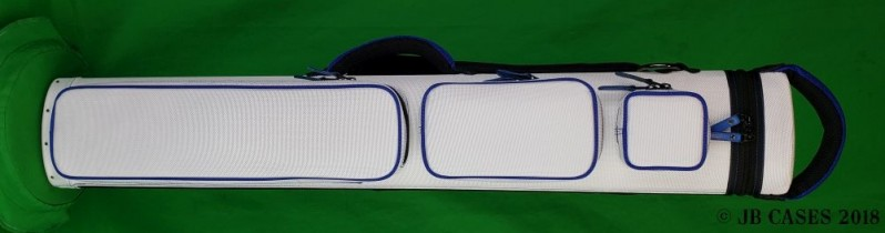 2x5/3x4 White Ultimate Rugged Case with Blue Piping