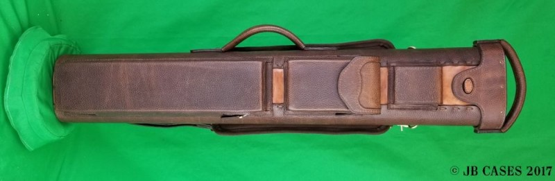 3x6 Brown Oil Tan/Veg Tan Leather Case with Pocket Tray