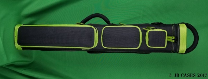 3x6 Black Ultimate Rugged with Lime Green Pocket Sides and Piping