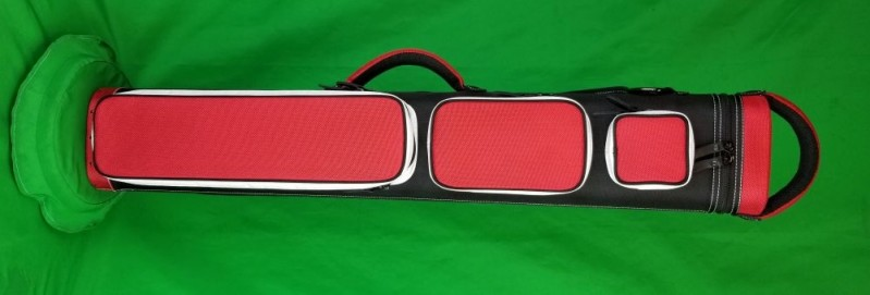 3x6 Black and Red Ultimate Rugged with White Pocket Sides