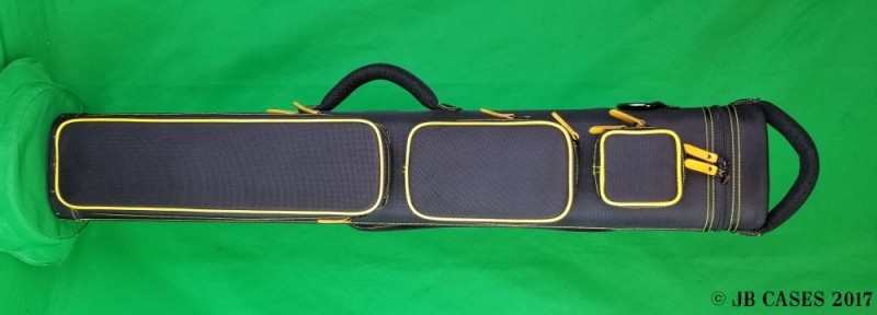 3x6 Black Ultimate Rugged with Yellow Pocket Piping and Stitching