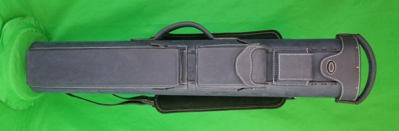 4x8 Navy Blue Oil Tan Leather Case
