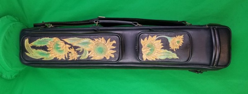4x8 Sunflower Leather Butterfly Case