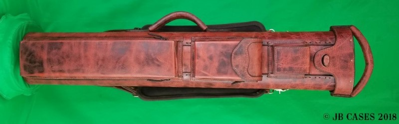 4x8 Brown Textured Oil Tan Leather Case