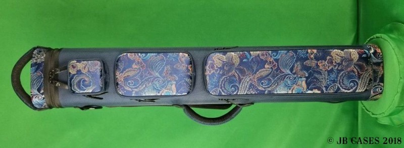 "4x8 Asian Zing ""Multicolor Paisley"" Ultimate Rugged Case (Navy Blue)"
