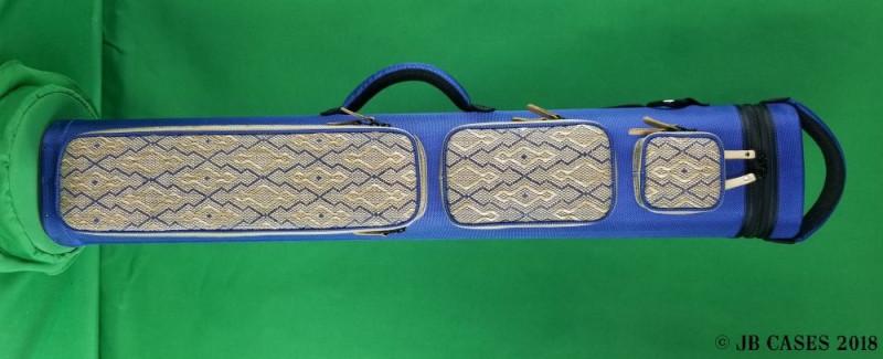 4x8 Blue Ultimate Rugged with Diamond Print Tweed Pockets