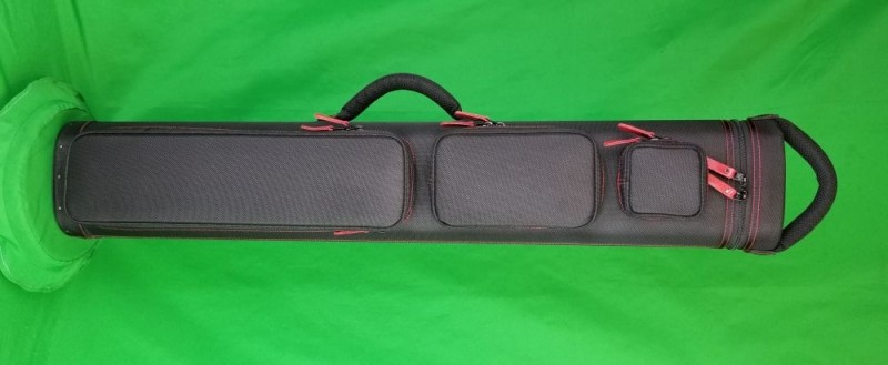 4x8 Black Ultimate Rugged with Red Stitching