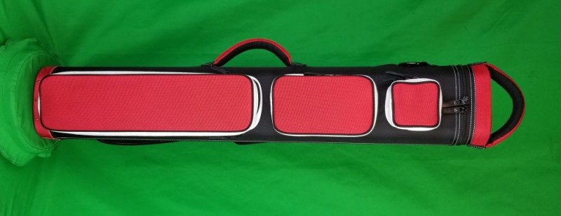 4x8 Black and Red Ultimate Rugged with White Pocket Sides
