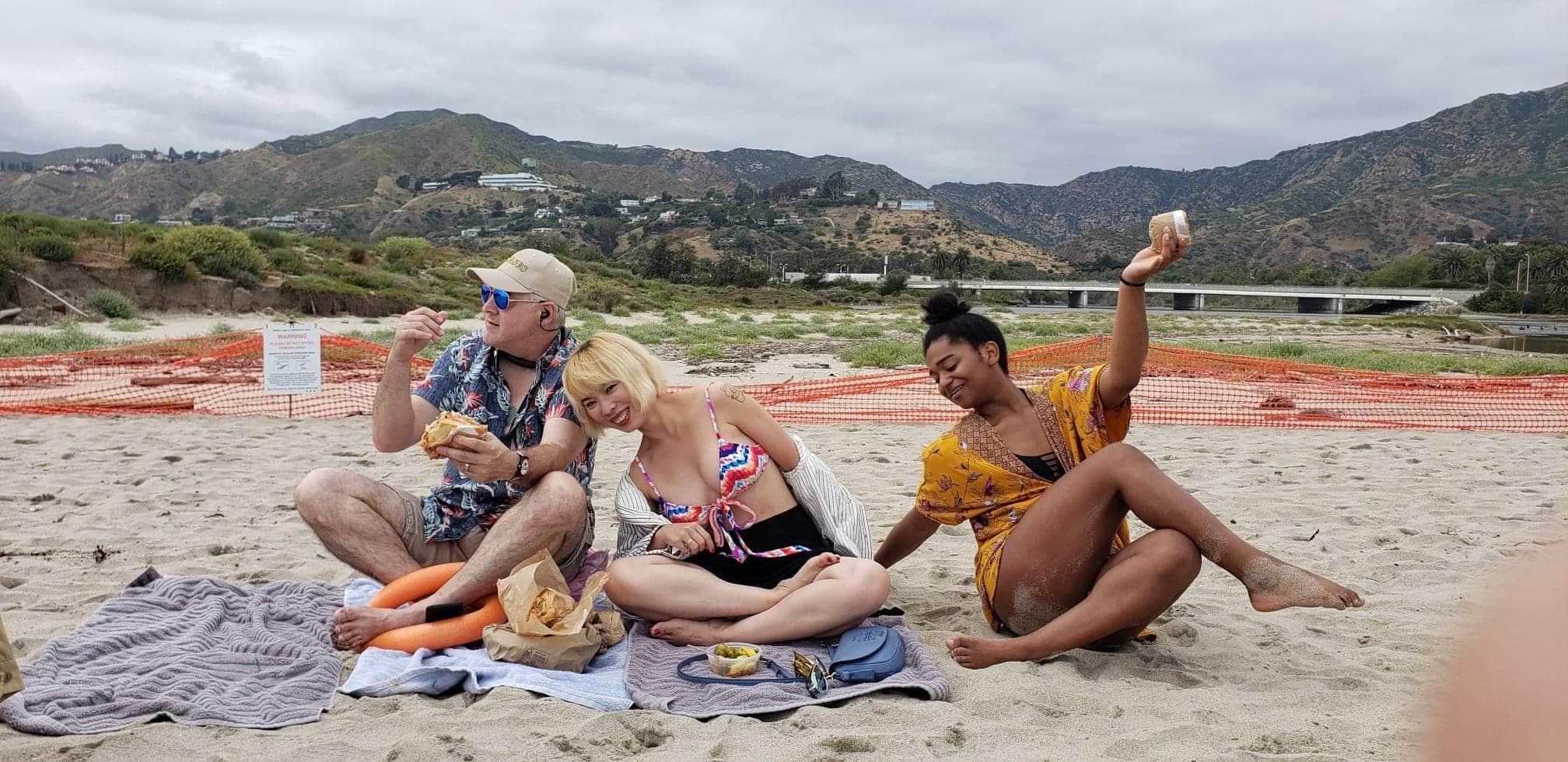 JB Team at the Beach